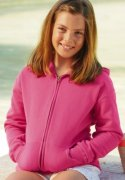 Kinder Hooded full zip Fruit of the Loom 62-045-0