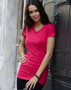 Dames T-shirt Extra Lang Stretch Tee Jays 455