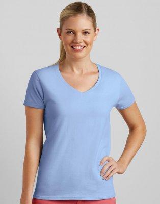 c482d34f4bf Dames T-shirt V Hals Gildan Premium Cotton 4100VL
