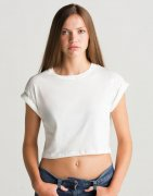 Dames T-shirt Organic Mantis Crop Top T M96