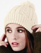 Dames Muts Cable Knit Snowstar Beanie