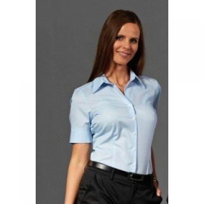 witte blouse korte mouwen dames
