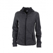 Dames Hooded Fleece Vesten Borduren