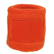 Oranje badstof, wristband with label 1520