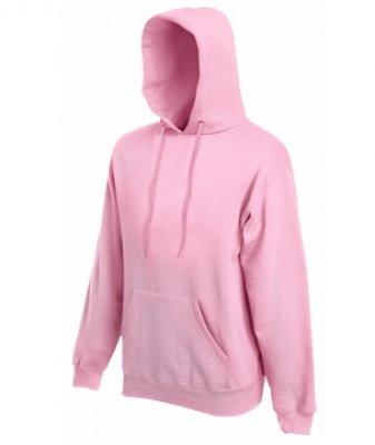 Licht Roze Trui.Hooded Sweater Fruit Of The Loom