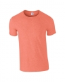 T-shirts Gildan Ring Spun 64000 heather oranje