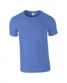 T-shirts Gildan Ring Spun 64000 heather royal blue